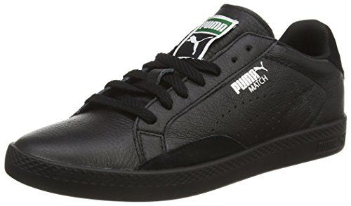 Puma Match Lo Basic Sports  Damen Sneakers, Schwarz (Black/Black), 38.5 - http://on-line-kaufen.de/puma/38-5-eu-puma-match-lo-basic-sports-damen-sneakers