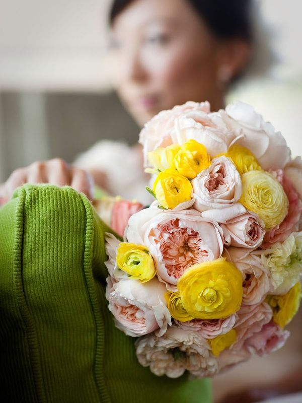 Peonies, Ranunculus, Flowers, Pink, Yellow, Wedding: Anna Kuperberg, Favorite Flowers, Flower Arrangements Bouquets, Ranch Wedding, Wedding Ideas, Wedding Bouquets, Pink Yellow Weddings