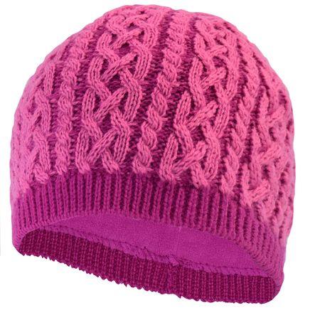 TrailHeads Cable Knit Women's Winter Beanie - light rose / raspberry