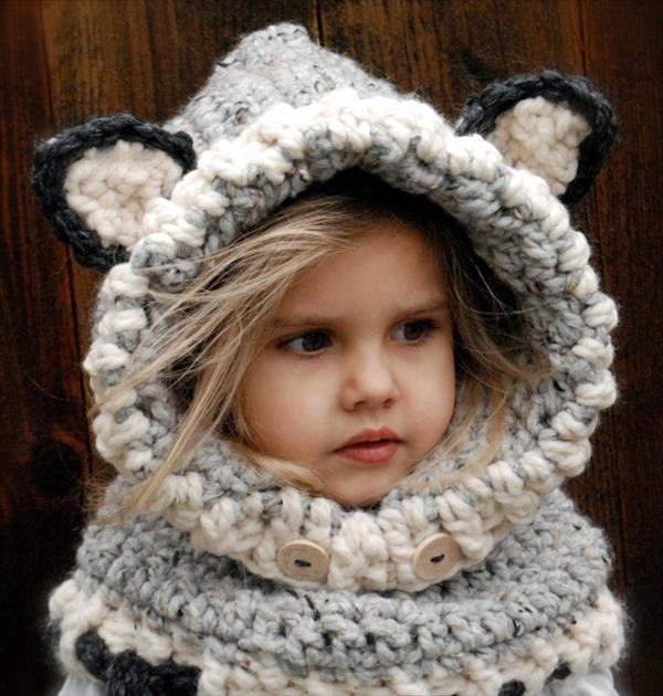 free baby #crochet wolf #cowl pattern