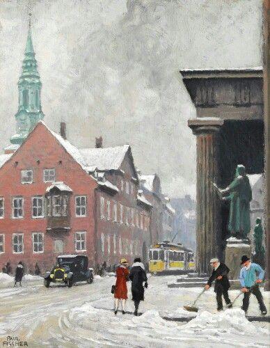 Nørregade af Paul Fischer