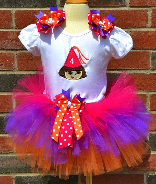 Dora Happy Birthday Personalized Tutu Set-