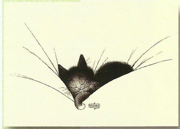 toujours les chats de Dubout : un grand amoureux de ces petits félins, qui a su rendre avec humour et beaucoup de tendresse, leurs attitudes, leurs travers et leurs comportements...