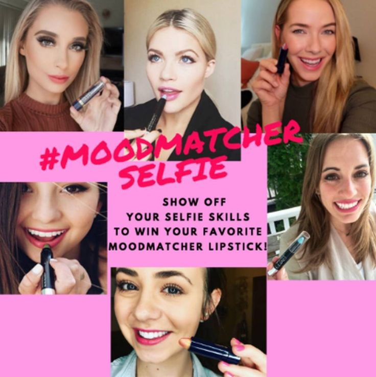 WIN  a FREE #MOODmatcher lipstick!  HOW TO ENTER: 1. Like this pic 2. Tag us in a #seflie with your favorite MOODmatcher lipstick  Share your selfie with us NOW to be featured on our page and win a lipstick of your choice!  2 winners will be announced Friday 9/9 2pm EST. Contest for USA shipping contestants only #MOODmatcher #Lipstick #beauty #makeuplover #makeup #contest