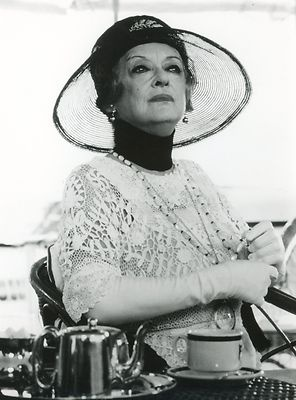 "Bette Davis, Agatha Christie's ""Death On The Nile"", one of her best movies, I laughed so much. Also featuring a young Maggie Smith!"