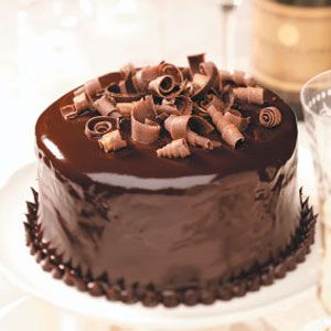 Chocolate Hazelnut Torte Recipe -Most cake recipes feed a group. We came up with this six-serving cake. That's enough for two...with just the right amount of leftovers!—Taste of Home Test Kitchen