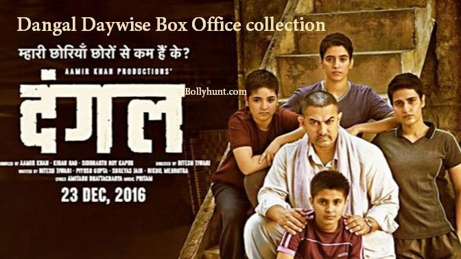 Dangal Daywise Box Office collection   Total Income