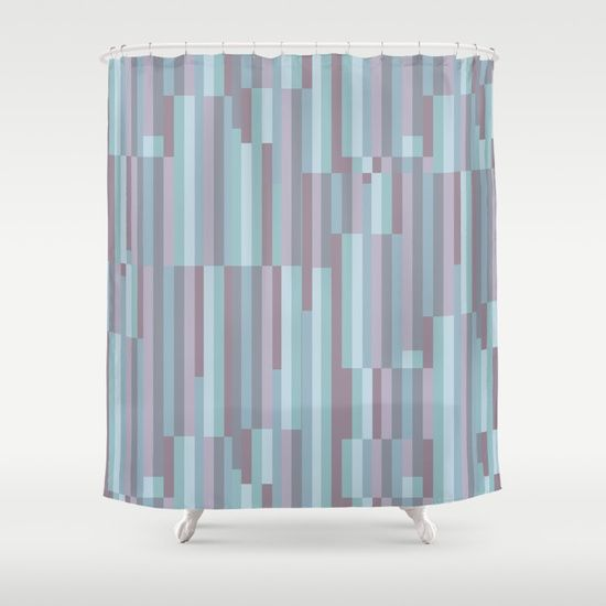 Customize your bathroom decor with unique shower curtains designed by artists around the world. Made from 100% polyester our designer shower curtains are printed in the USA and feature a 12 button-hole top for simple hanging. The easy care material allows for machine wash and dry maintenance. Curtain rod, shower curtain liner and hooks not included. Dimensions are 71in. by 74in. PLUM, PURPLE, CYAN, TURQUOISE, BLUE, RASPBERRY, STRIPES, MINIMALIST, SCANDINAVIAN, DESIGN, POP, TAPESTRIES, HOME…