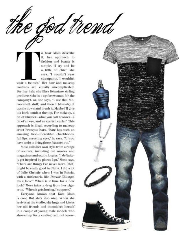 """the god trend men's fashion"" by charmina-linda on Polyvore featuring Boohoo, Converse, Jean-Paul Gaultier, men's fashion and menswear"