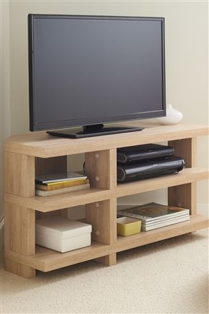 Roma Oak Corner Capitalise TV Unit from Next