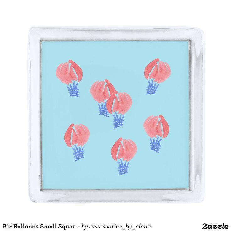 Air Balloons Small Square Lapel Pin
