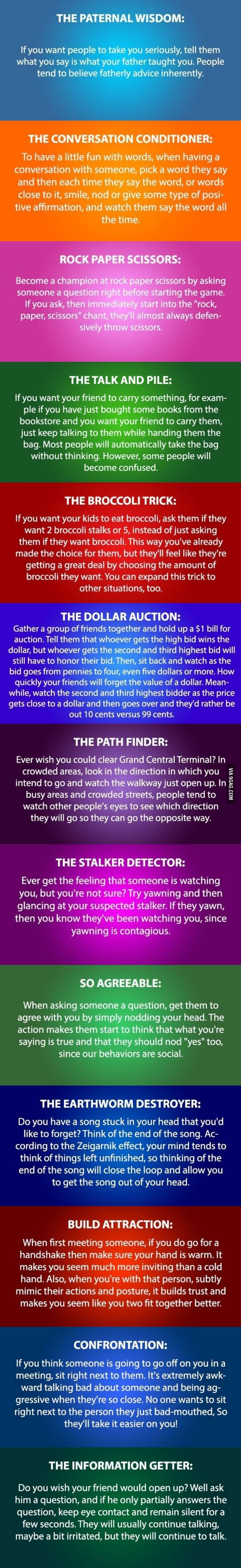 A little bit of fun - 13 Cool Psychology Tricks You Need To Try