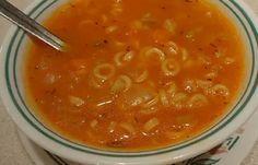 Recette : Soupe aux tomates de maman.
