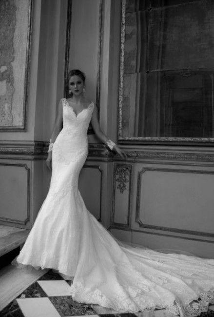 Abito da sposa a sirena in pizzo Alessandra Rinaudo 2016 mod Tory
