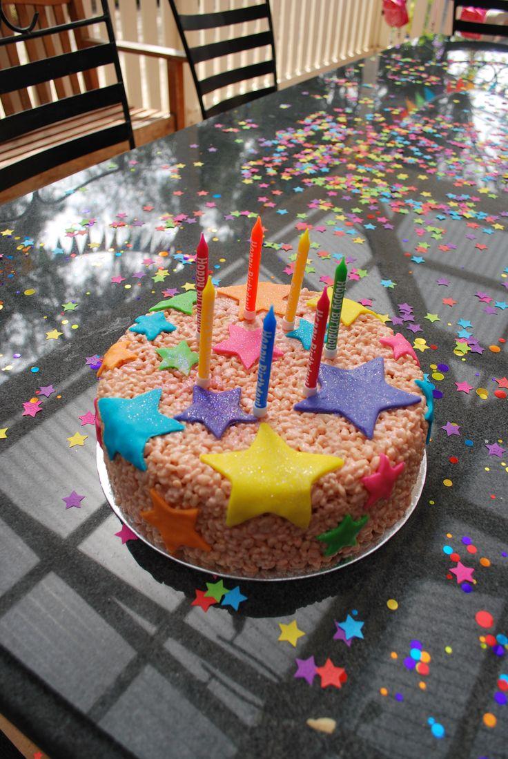 Rice bubble cake