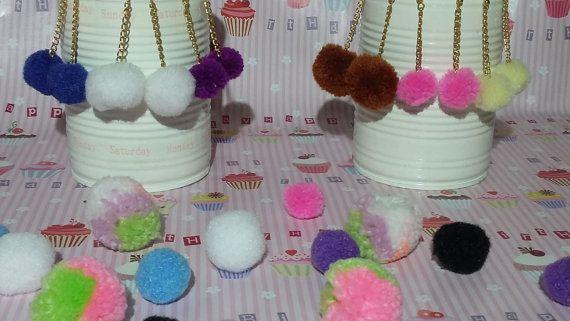 Pom Pom Earrings / Tassel Earrings / Fluffy by MadeWithUnicorns
