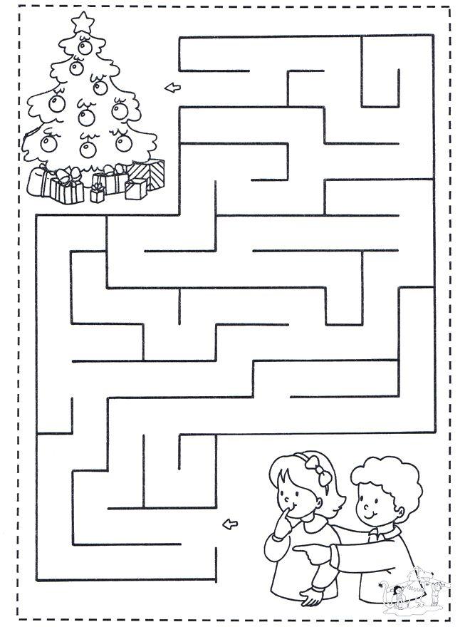 Crianças - Imagens com labirintos para imprimir e completar - Educação Online