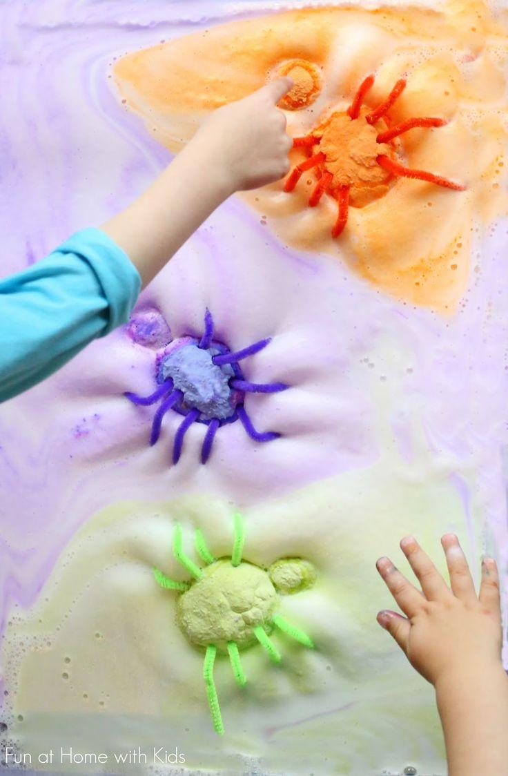 halloween sensory play magic foaming spiders - Halloween Fun Activities For Kids