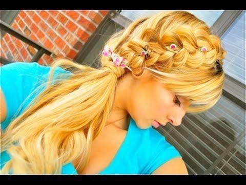 Looped Reverse Braid For Medium Long Hair