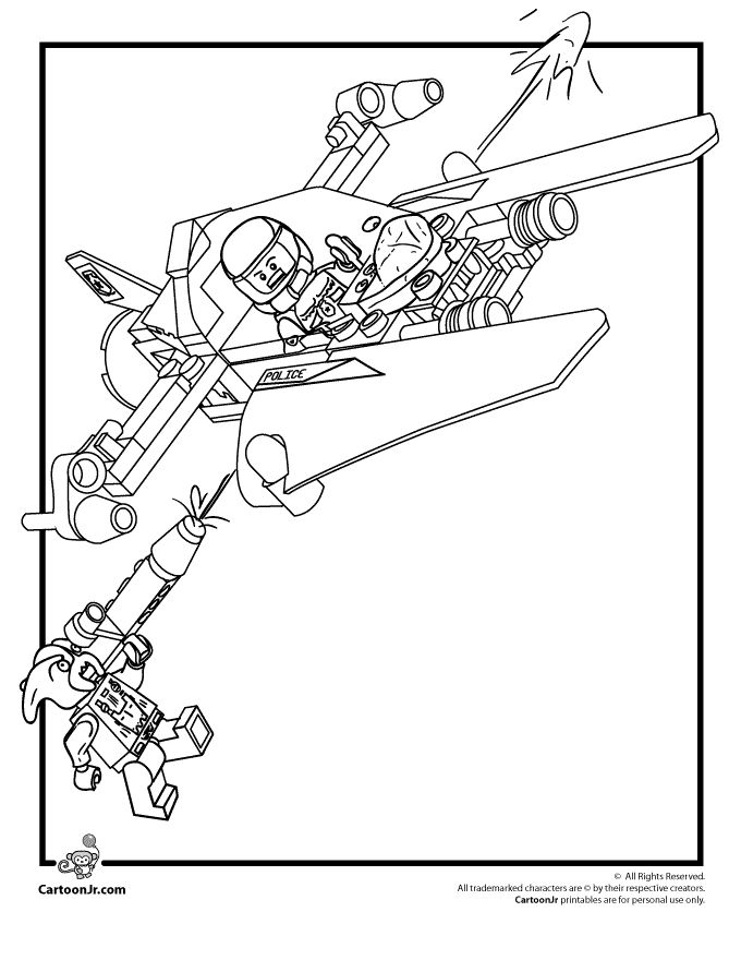 Lego Coloring Pages Lego Space Police Coloring Page – Cartoon Jr.