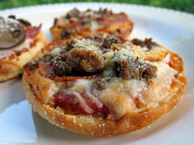 very good - English Muffin Pizzas - I used the foccacia bread (THM book) for my pizza 'crust'.