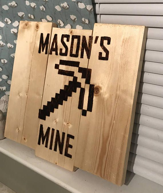 This Minecraft Sign Would Be Perfect For The Gamer In Your Live. This 12 X