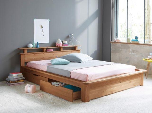 59 best images about chambre on pinterest ikea crate - Lit 2 places avec rangements ...