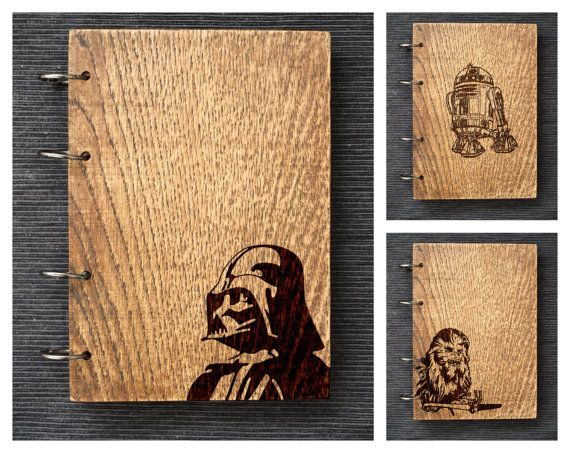 STAR WARS collection I wooden Oak notebook / by woodandroot