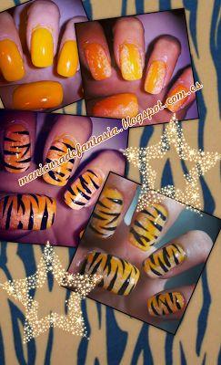 Manicura de tigre!
