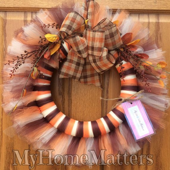 Fall Tulle Wreath by MyHomeMatters on Etsy