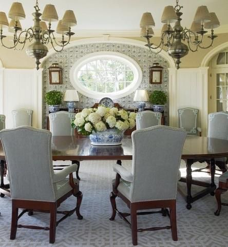 Awonderfulpalmettolife Crafalski Beautiful Southampton Dining Room Via TumbleOn
