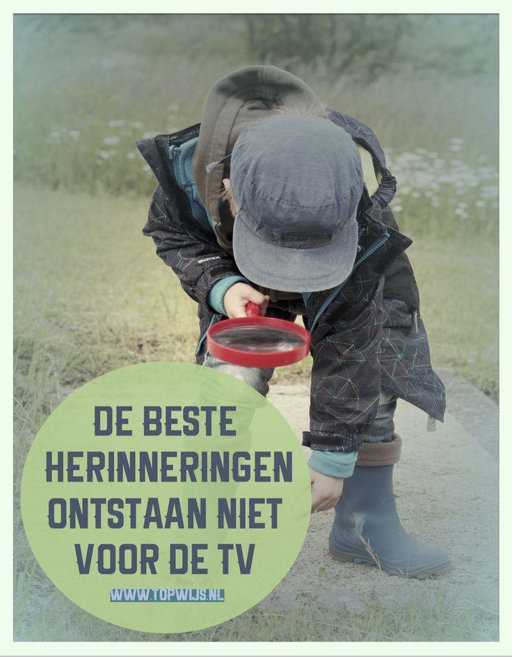 #onderwijs #opvoeding Onderwijs quote: De beste herinneringen ontstaan niet voor de tv