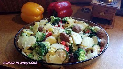 Zapiekanka  z warzywami i pulpetami  http://kuchnianaantypodach.blogspot.com.au/2015/10/zapiekanka-z-warzywami-i-pulpetami.html