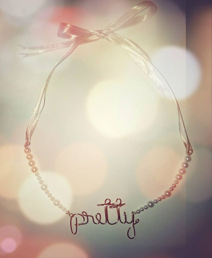 Pearls and satin ribbon necklace