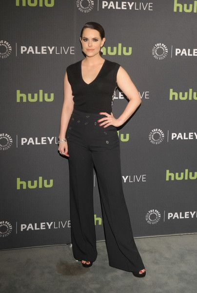 Emily Hampshire Tank Top - Emily Hampshire opted for a simple and casual V-neck tank top when she attended PaleyLive LA.