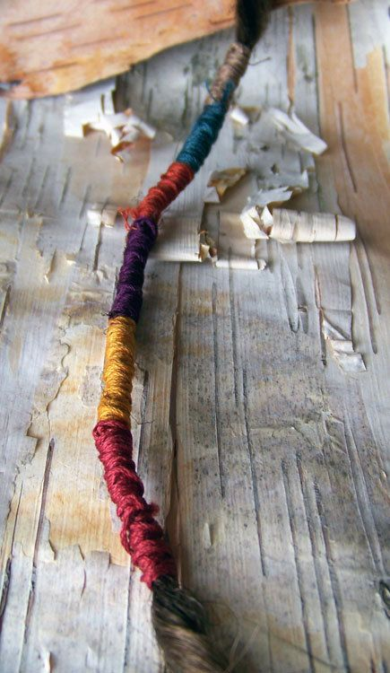 1 Custom Dreadlock Hair Wrap Bohemian Hippie by PurpleFinchStore