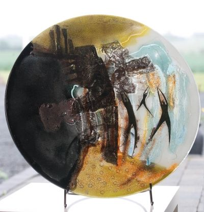 Glass plate // Unique and exclusive work of art made by glass artist Branka Lugonja.