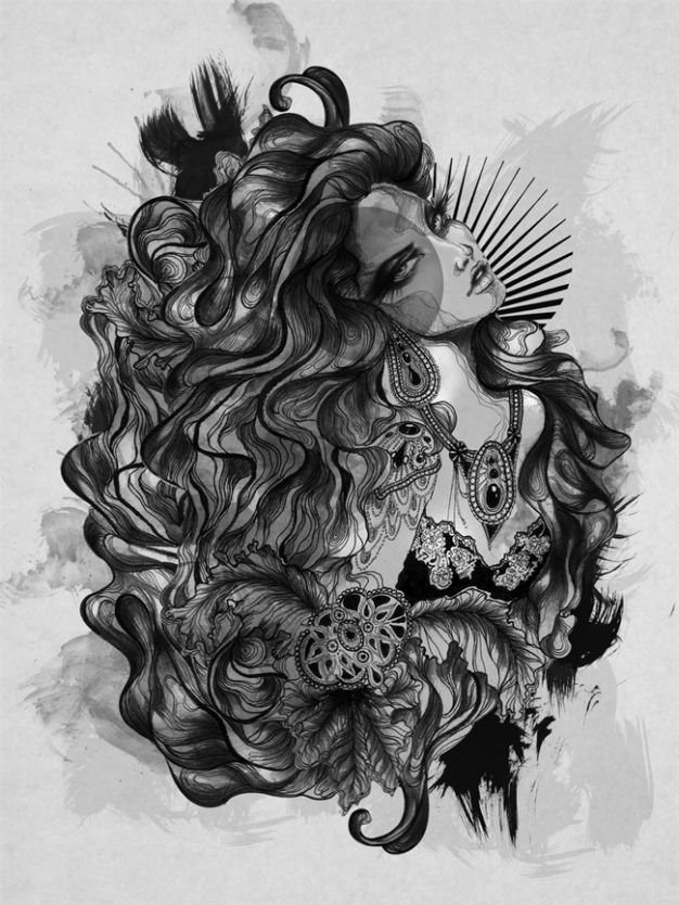 Some is just too damn gorgeous not to notice. Stunning work by Dayrl Feril: Deviant Art, Pelas Art, El Art, Black White, Artists Inspiration, Art Mishmash, Amazing Artists, Artists Creations, Daryl Feril