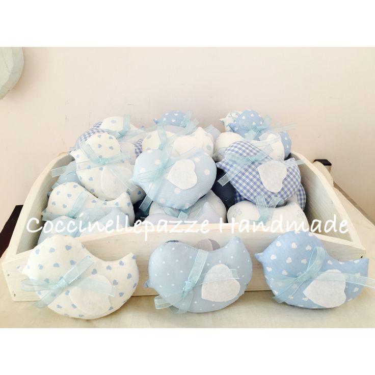 Pulcini bomboniere nascita o battesimo. Personalizzabili nei colori e nei tessuti, con etichette  nome bimbo o bimba. Per info: ninitell.p@gmail.com