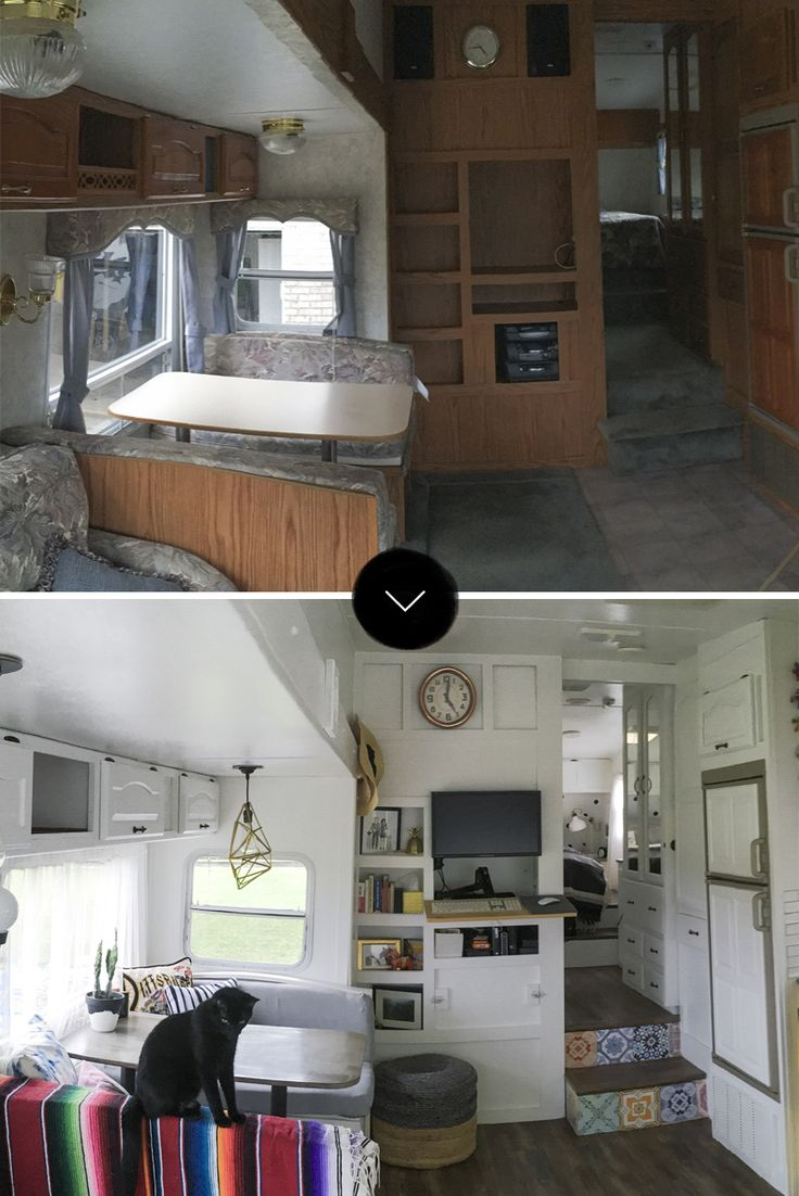 Before after converting 188 square feet on wheels into a home design sponge
