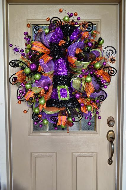 Halloween Mesh Wreath #halloween #wreath