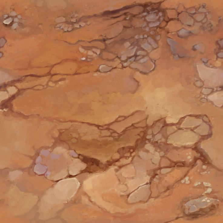 Tileable Hand-Painted Textures set for a desert environment. Full Photoshop.