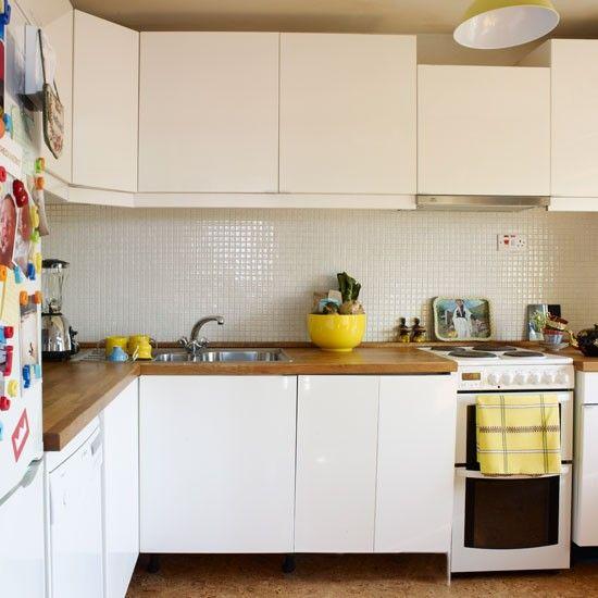White Kitchen With Wooden Worktops mer enn 25 bra ideer om kitchen worktops uk på pinterest | kjøkken