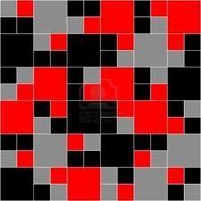 De combinatie van zwart,rood en grijs