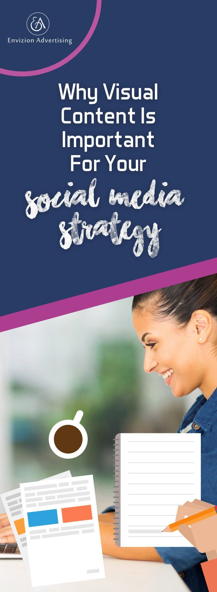 People are much more likely to retain the information you are giving them if it immediately catches their attention and reels them in with interesting information. Learn the eye-appealing way to capture an audience quickly! http://www.envizionadvertising.com/social-media/social-media-visual-content-strategy/