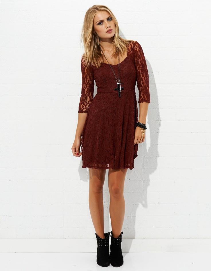 Lovely Lace 3/4 Sleeve Dress | JayJays