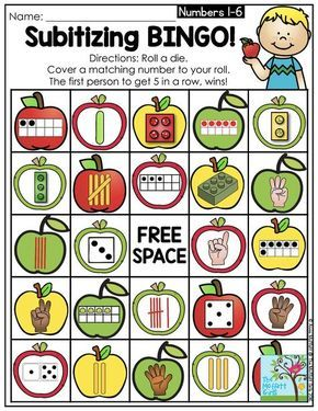 Subitizing is an important skill to teach when introducing number concepts in Preschool and Kindergarten. It sets a strong foundation for addition and subtraction!