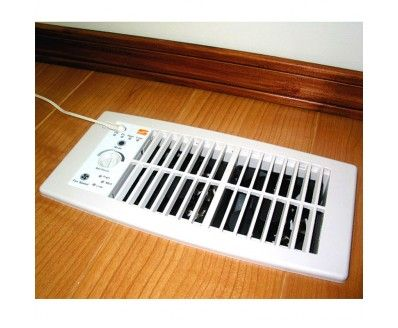 Suncourt HC500-W Flush Mount Heating and Air Conditioning Booster Fan, White