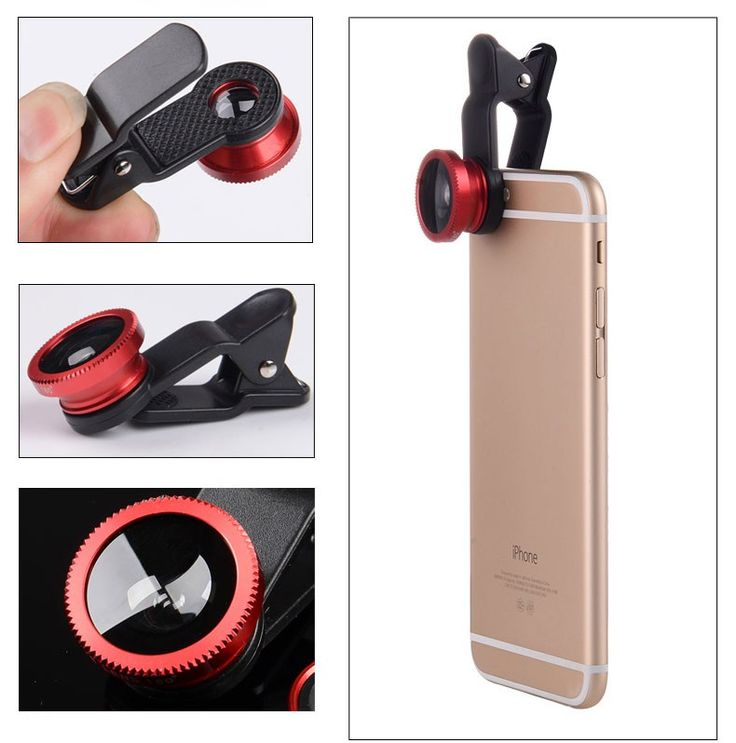3 In 1 HD Universal Clip Camera Mobile Phone Len Fish Eye Macro Wide Angle For Iphone 4 5 6s Plus&All Android System's phone – Shop Now! – WorldOfTablet.com