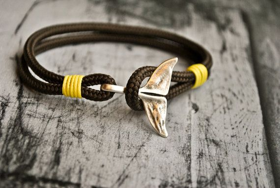 Mens bracelet Whale tail mens jewelry by CristinaHandmade on Etsy